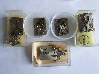 5 x Smiths clock platform escapements for parts or repair. Sold as is