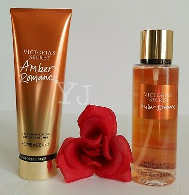 Victoria Secret - Amber Romance - Fragrance Lotion N Mist (Set) - New