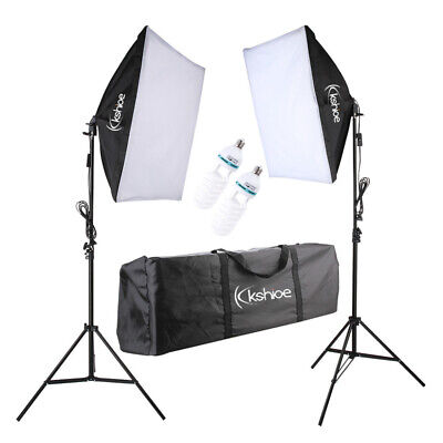 2x 135W Large Size Softbox Photography Studio Lighting Kits with Light Stand