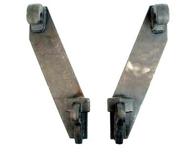 Weld On Euro Quick Hitch Brackets To Fit Various Front End Loader Attachments.
