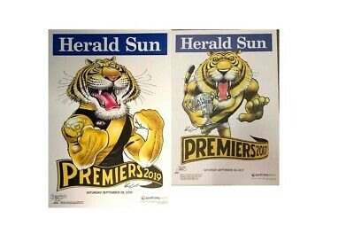 Richmond Tigers 2017 & 2019 Afl Premiers Grand Final Weg Premiership Poster