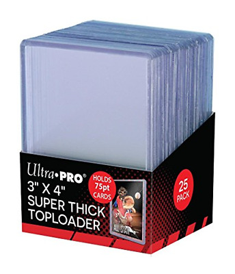 Ultra Pro 3 x 4 Super Thick Baseball Card Toploaders, Holds 75pt Cards (Pack ...