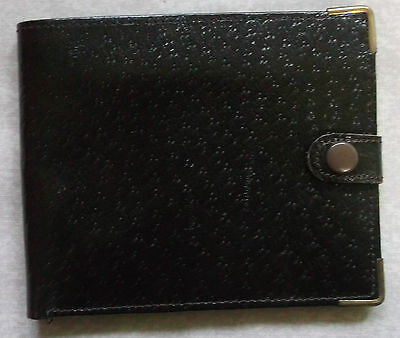 Wallet Vintage Leather BROWN BI FOLD DRIVING LICENCE CASH NOTES 1980s