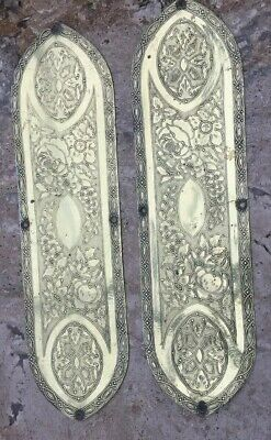 Stylish Pair Of Victorian Arts & Crafts Door Finger Plates
