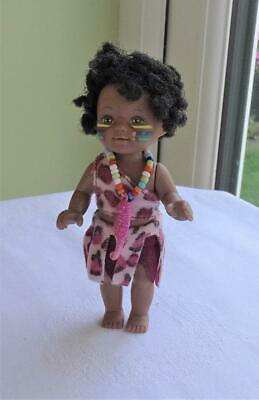 Miniature Simba Ethnic Doll Dressed Pacific Island? Clothes - Barbie Kelly Size
