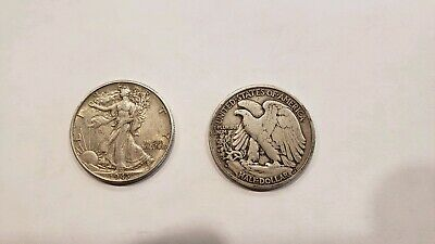 1 - Walking Liberty Half Dollar with date  90% Silver- Nice Circulated-Fast Ship