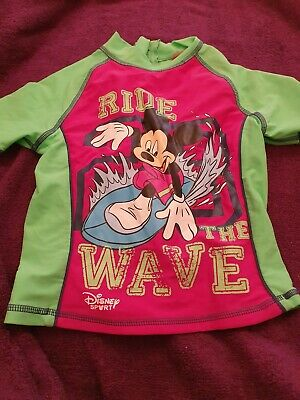 Lovely Boys Disney Mickey Mouse Swimming Top Age 5-6 Years