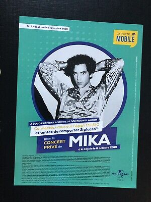 Mika flyer rare collector Format 17x23 cm - My name is Michael Holbrook