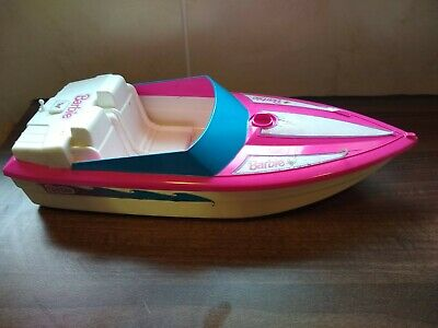 Barbie speed boat 1998 Mattel pink and white