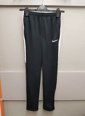 BNWT NIKE DRY ACADEMY Black White Boys Joggers Tracksuit Bottoms L 12 14 YEARS