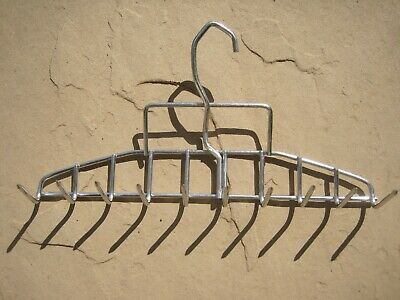 """4 X Stainless Steel Smokehouse Bacon Hanger Smoker Meat Hook 10 Prong 11 1/2"""" W"""