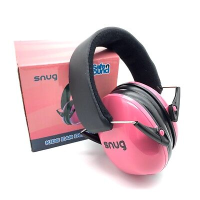 SNUG Safe n Sound Pink Kids Ear Defenders Hearing Protection Noise Blocking
