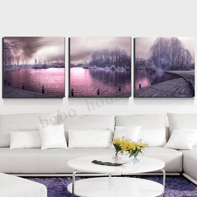 Lake Scenery Canvas Modern Painting Print Art Poster HD Wall Home Decor