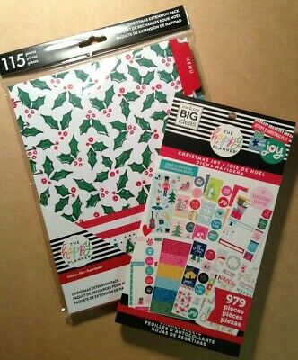 me & my big ideas The Happy Planner CHRISTMAS VALUE PACK STICKERS & EXT PACK