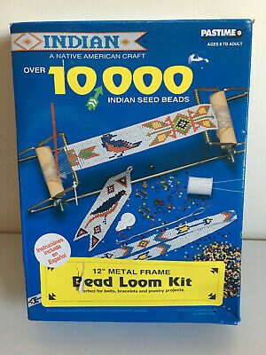 Pastime Indian (Native American) Metal Frame Bead Loom Kit beads, etc. sealed