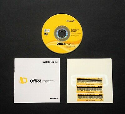 Microsoft Office for Mac 2008 Home & Student - 3 Licences Install