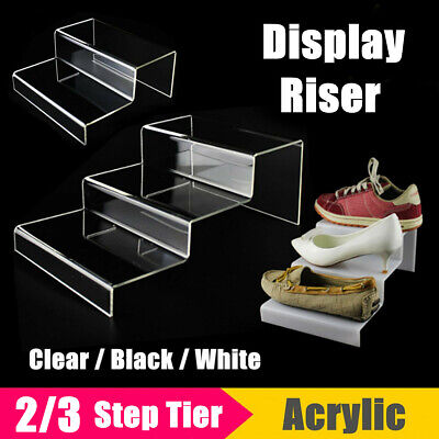 2/3 Step Display Stand Counter Retail Riser Acrylic Nail Polish Jewellery