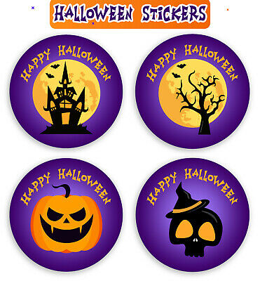 48 x Halloween Stickers 30mmGift party decoration scrapbook Trick or Treat SNP20