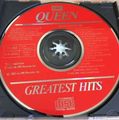 Queen : Greatest Hits CD - Original Japan Pressing Red Label No Barcode RARE