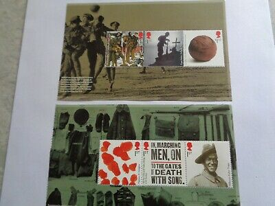 2015 GB  Booklet Pane 2 & 3, PSB DY13 The Great War, (SG 3711-3716), MNH