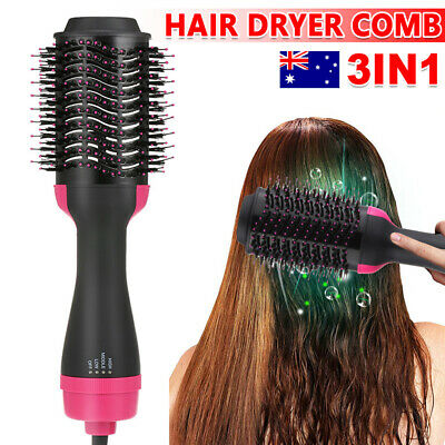 360° Multifunctional One-Step Hair Dryer Hot Air Brush Comb Home Salon Styler AU