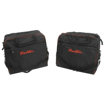 Mazda MX5 Mk1-2.5 Luggage bag set 2pc Black /Red Roadster logo Nylon outer shell
