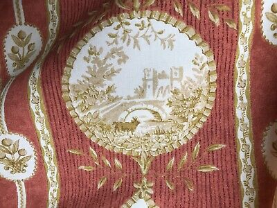 Stunning French Shabby Chic Cotton Toile De Jouy REmnant 65/100cms