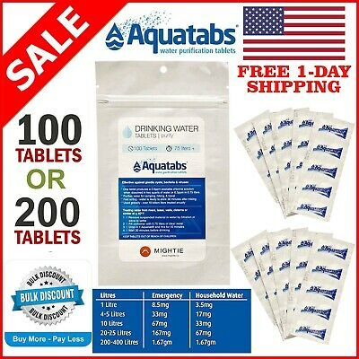 200 X OASIS WATER PURIFICATION TREATMENT TABLETS PURIFYING SURVIVAL 1 tablet =1L