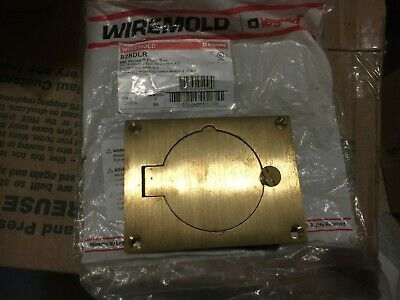 Wiremold Walker Legrand 828DLR 20-30 AMP SINGLE Cover Plate | Brass | New