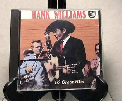 Music Cd/ Hank Williams 16 Great Hits/ Pre Owned