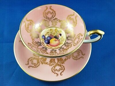 Aynsley Tea Cup And Saucer Bailey Signed