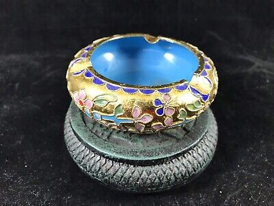 Chinese Cloisonné   And Bronze Incense Burner .