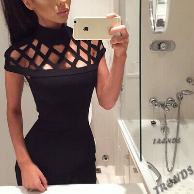 Sleeveless Short Bodycon Mini Bandage Cocktail Dress Party Summer Women Evening