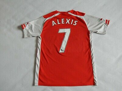 Arsenal Fc 2014-15 Football Home Shirt Jersey Alexis Sanchez 7, Mens L