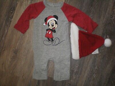 Authentic Disney Store Mickey Mouse Holiday Sweater Multi Baby Boy 0-3M 3-6M