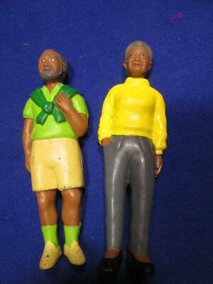 "Dollhouse People ~ Lakeshore Rubber 5.25"" Ethnic  Grandma & Grandpa #135"