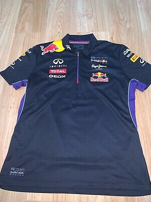 XXL Mens Red Bull Racing Formula 1 F1 Zip Polo Shirt by Pepe Jeans Infiniti 99p
