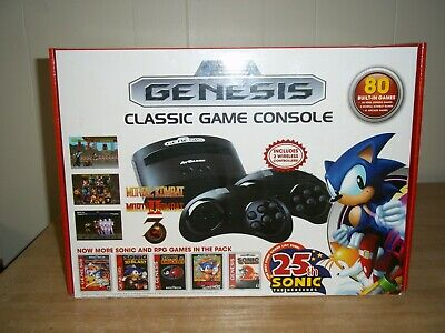 SEGA GENESIS CLASSIC GAME CONSOLE 2016 Version ATGAMES - 80 Built In video Games