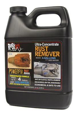 RUST911 32 oz jug that Makes 4-gallons of Ultra Powerful Rust Remover FREE SHIP