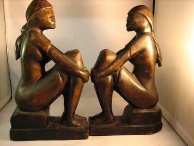 A pair of Hand Carved Bookends with beautiful sculpted & Graceful Lines