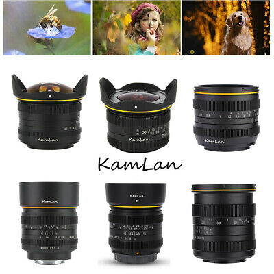 Kamlan 7.5mm 8mm 50mm 28mm F1.1/1.8 Large Aperture Manual Lens for Sony Canon SP