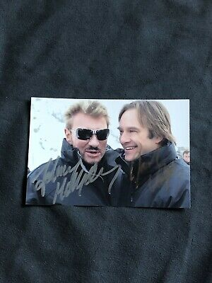 David & Johnny Hallyday photo Concert dedicace autograph Mon Pays C'est L'amour