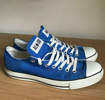 Rare Converse All Star Low UK 9 Cobalt Blue Mesh Limited Edition Great Condition
