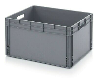 AUER Euro Stacking HUGE Heavy Duty Plastic Storage Container - grey WITH LID