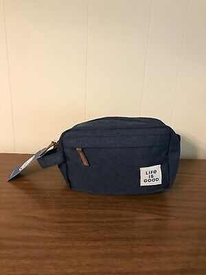 Life Is Good Mens Day Dopp Kit darkest blue toiletry bag NWT