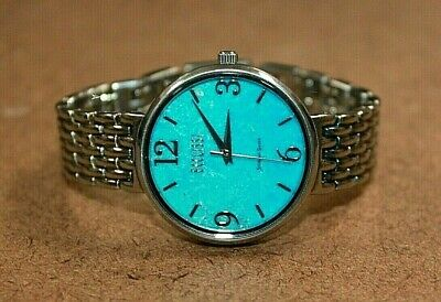 Ecclissi Sterling Silver Women's Round Turquoise Dial Watch 33265 [099WEI]