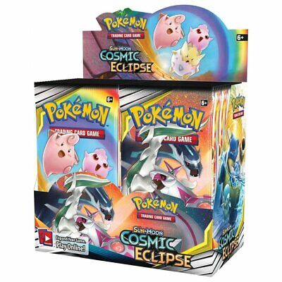 POKEMON TCG Cosmic Eclipse Booster Box Incl 36 Booster Packs