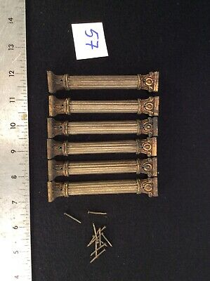 Antique Set Column Front Ornament Mantel Clock Case Part