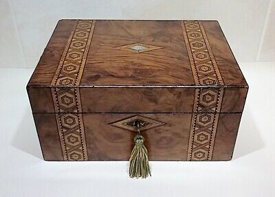 Antique Wooden Box With Key Antique Writing Slope
