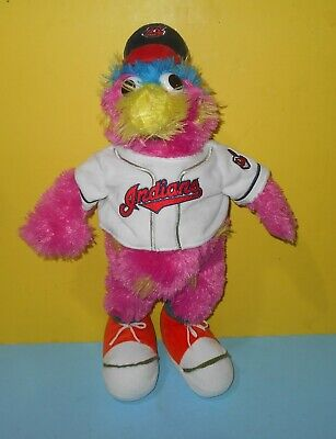 "MLB Forever Collectibles 18"" Cleveland Indians Slider Mascot Plush w/Chief Wahoo"